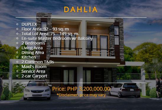 belize north house consolacion cebu Dahlia model