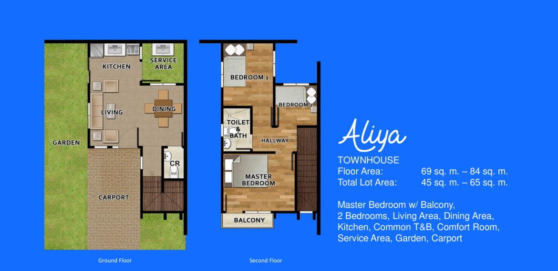 breeza palms house and lot mactan aliya model floor plan