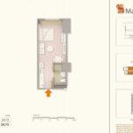 mandani bay quay cebu T2 studio unit lay out