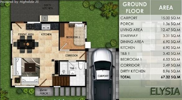 modena townsquare house and lot elysia floor