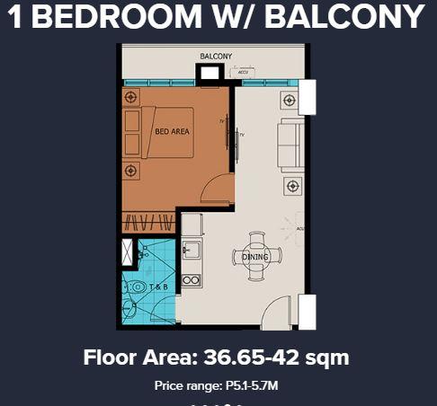 vista suarez cebu 1 bedroom with balcony