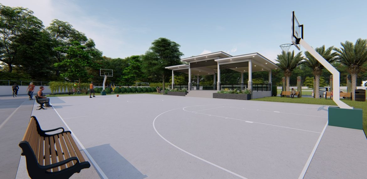 breeza scapes Basketball-Court