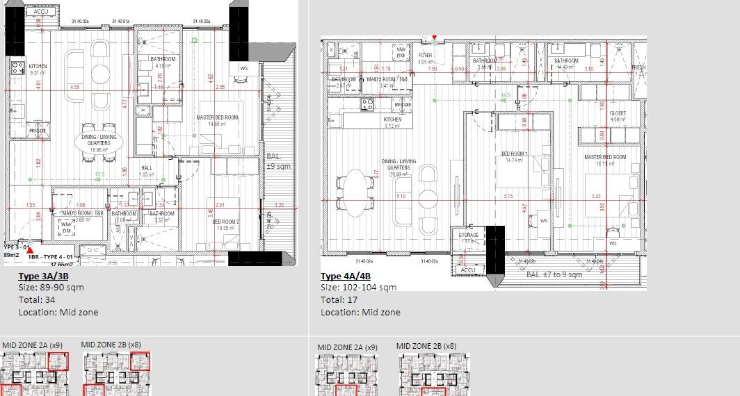 2BR SUITE TYPE 3A-B AND 4A-B lucima high end condo ayala cebu