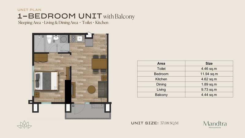 pre-selling-condo-Mandtra-Residences-Mandaue-Cebu-1BR-UNIT-W-BALCONY-1